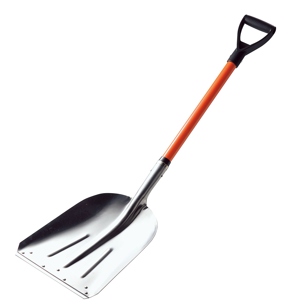 Coal Shovel with Reinforced Blade, Fiberglass Handle