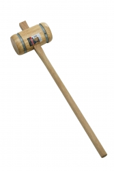 Round Wooden Mallet, Banded (m...