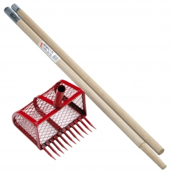 Improvement type clamming rake